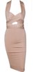 Carasoul beige wrap dress