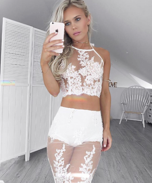 Posie White Lace Set