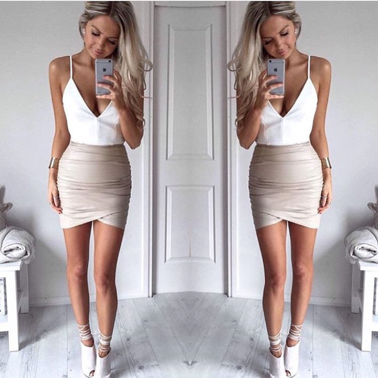 Dusty road nude skirt
