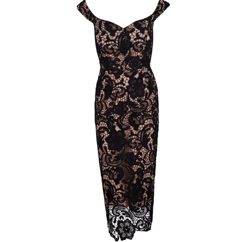 Mariah black lace dress