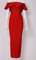 Mayda red off the shoulder dress