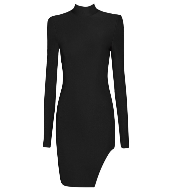 Gemini black long sleeve dress