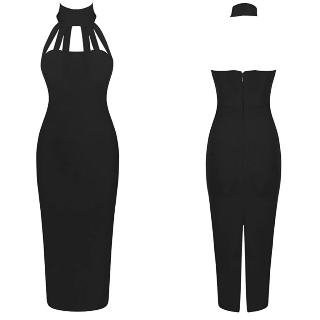 Zubie black high neck dress