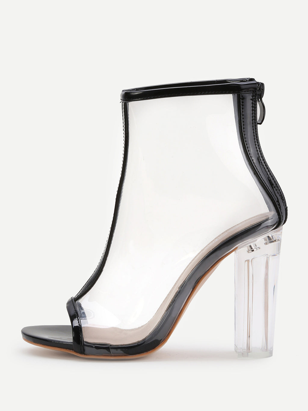 Kourtney clear black heels