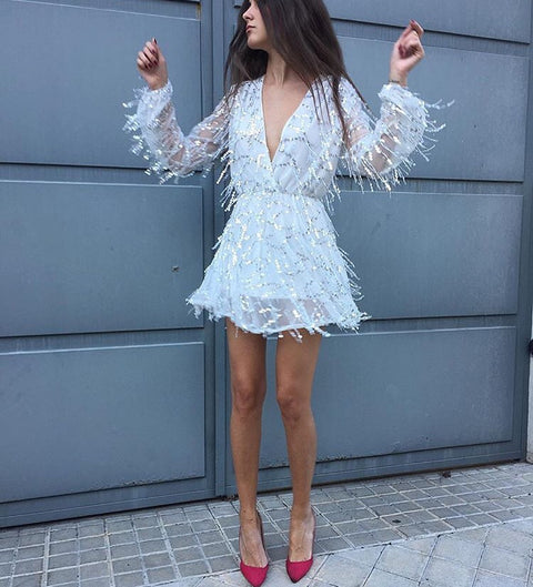 Moi Silver Sequin Playsuit