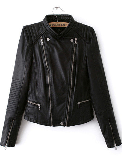 Frances Black Motorcycle Leather Jacket
