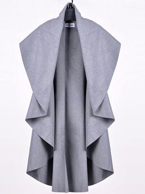 Hannah Grey Sleeveless Coat