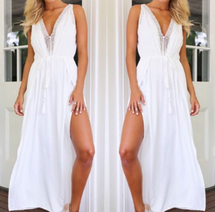 Tate white maxi dress