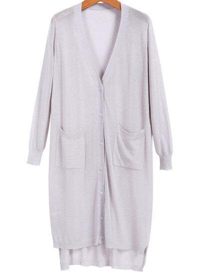 Stella Grey Long Cardigan