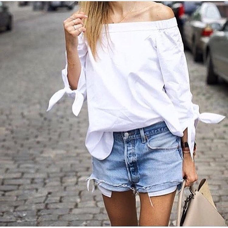 Evie white off the shoulder blouse