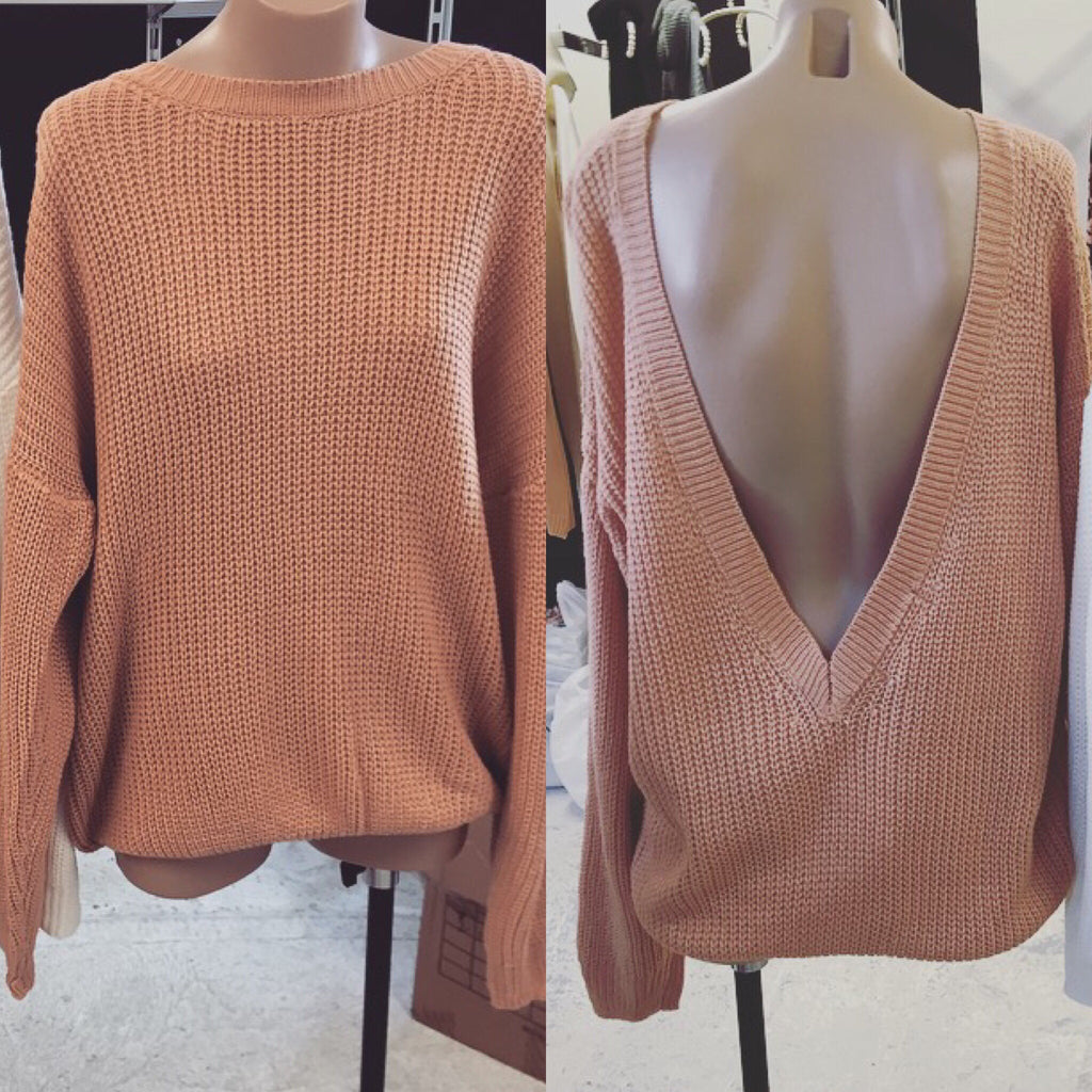 Milly blush low back knit