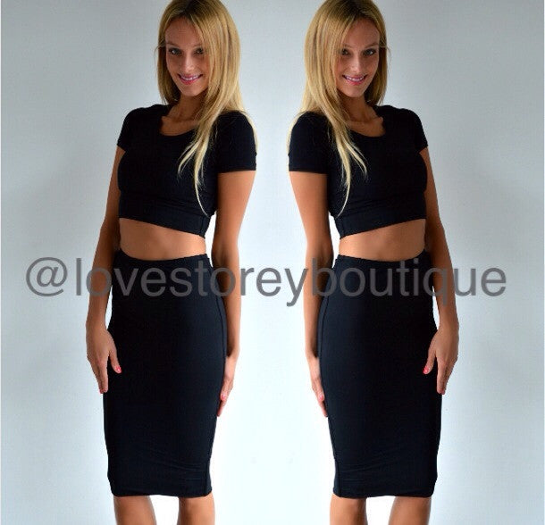 Renee Black Skirt