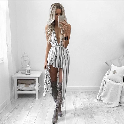 Villa stripe playsuit