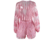 Jersey pink feather playsuit