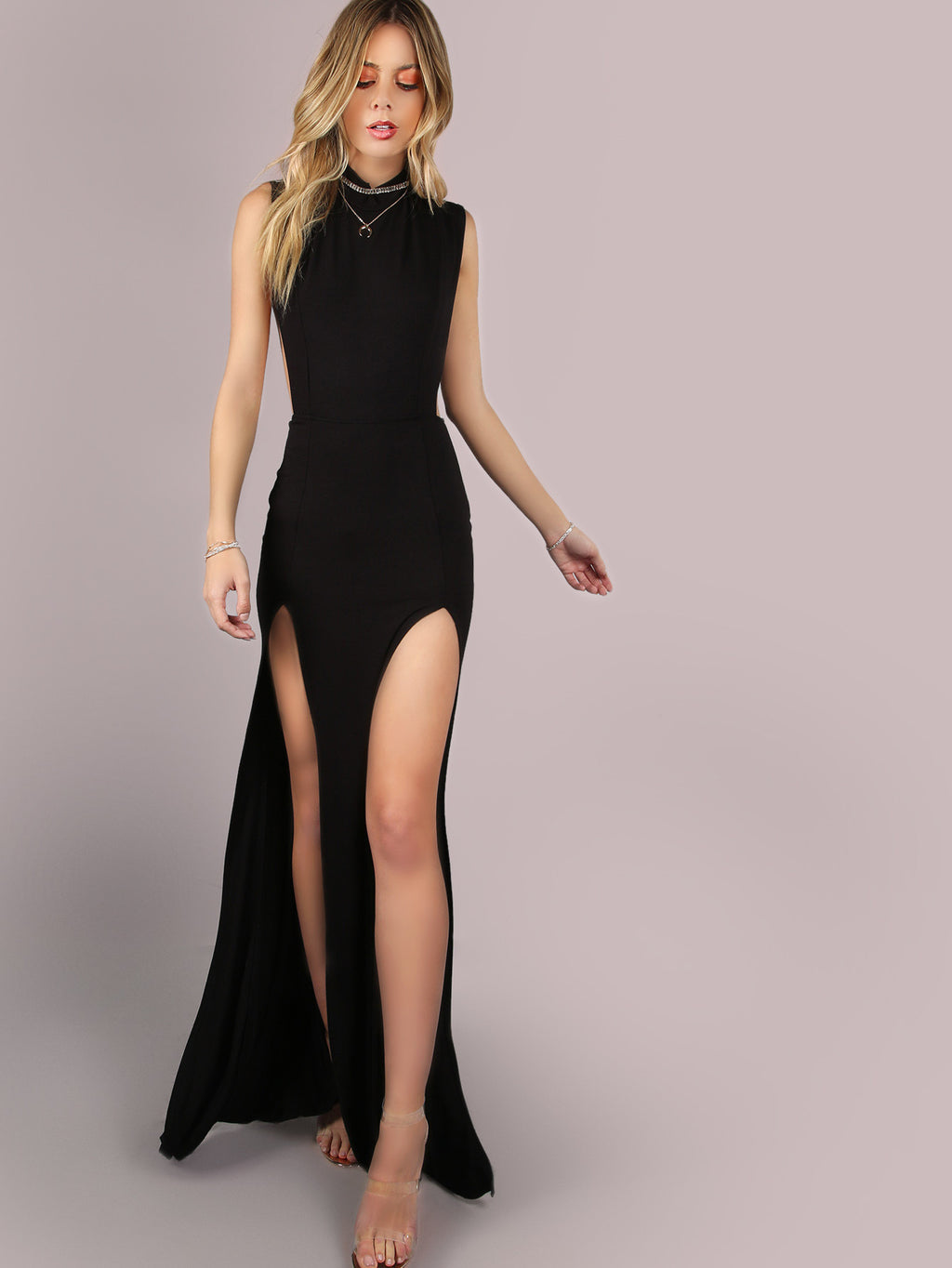 Elle Black Maxi Dress