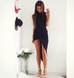 Sweet Little Thing Black Asymmetric Dress