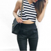 Entourage stripe crop top