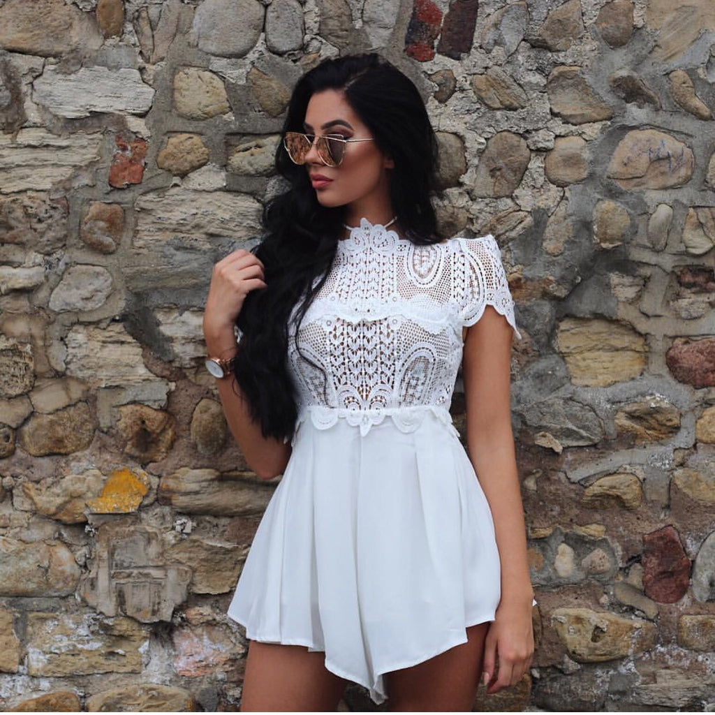 Mercee white playsuit