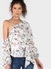 Phoebe floral one shoulder blouse