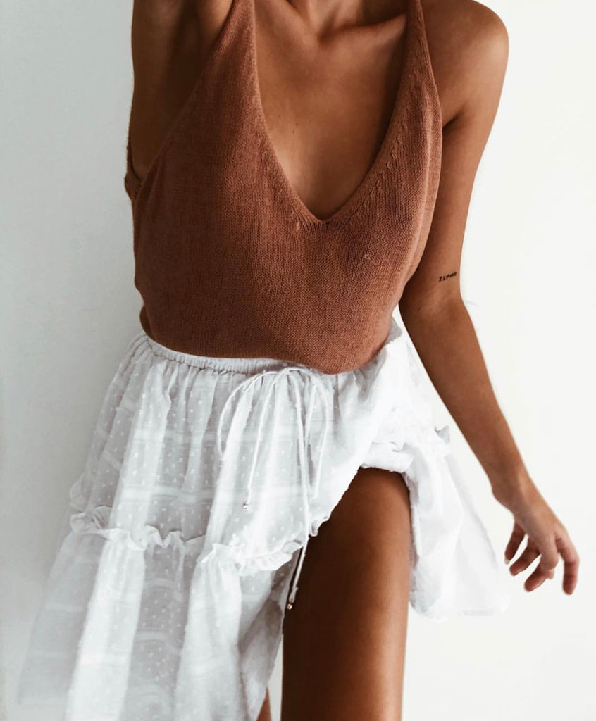 Ellie bronze knit cami