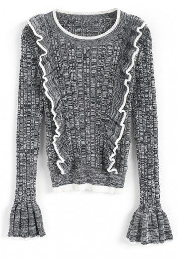 Halation grey knit