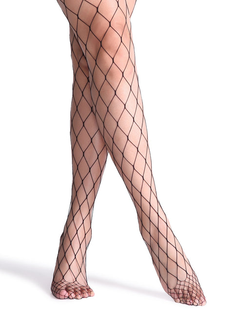 Gizelle sexy fishnet wide hole stockings