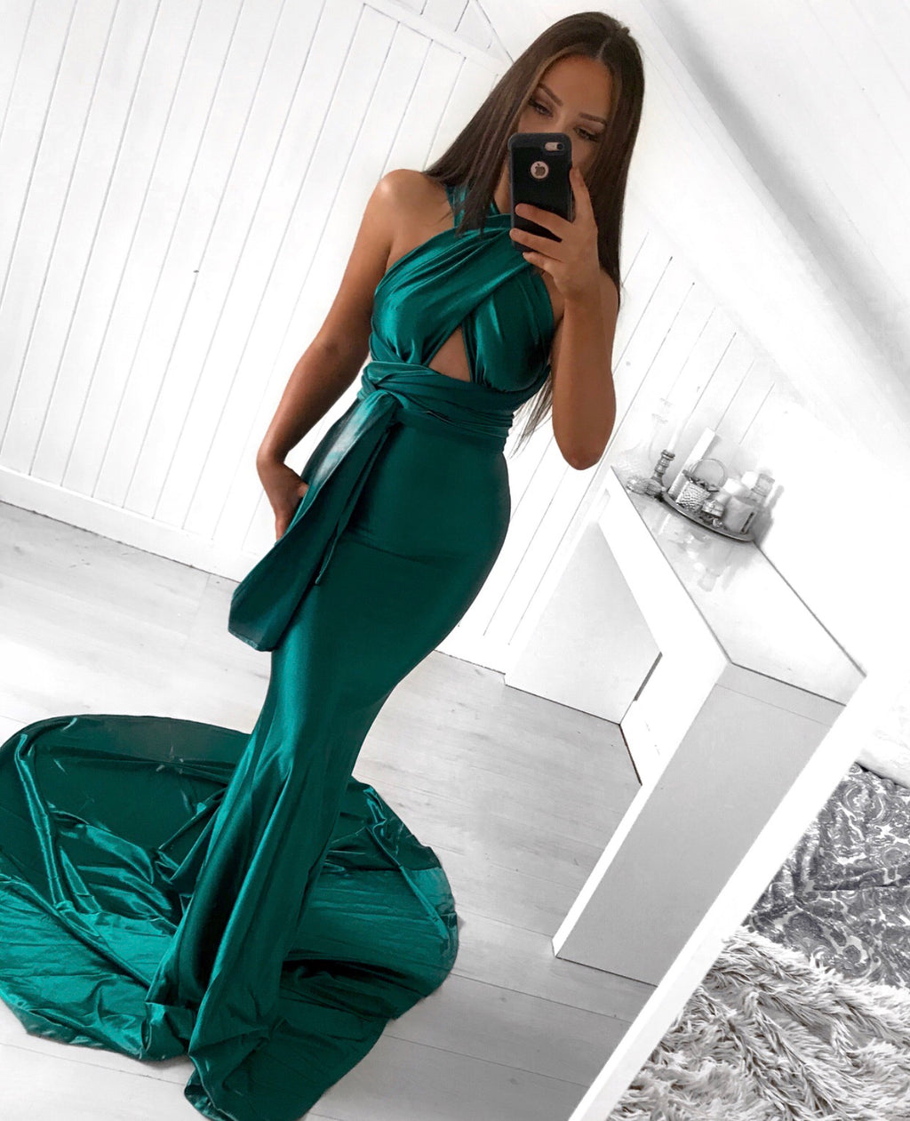 Kayla emerald maxi dress