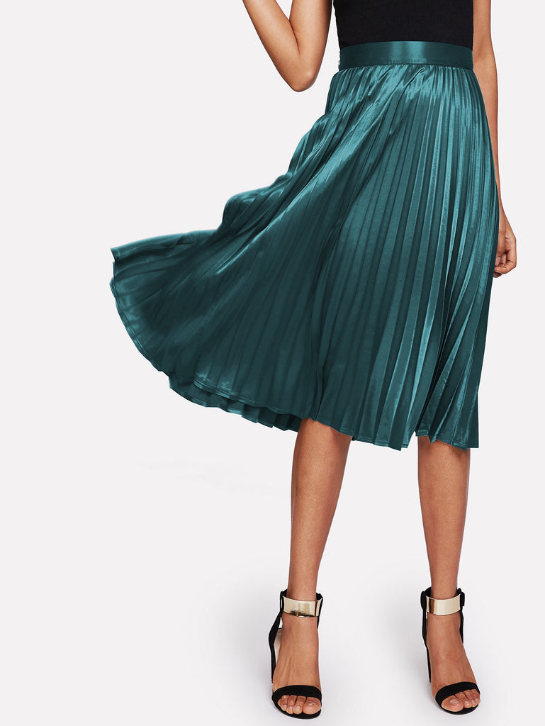 Roxy emerald green skirt