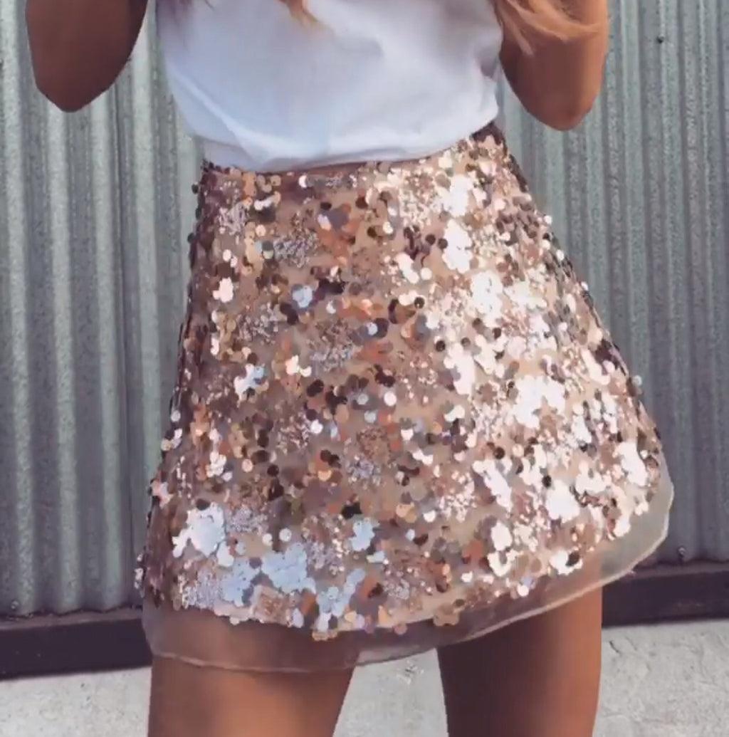 b9e3d557fd73 Bec gold sequin skirt – Love Storey Boutique