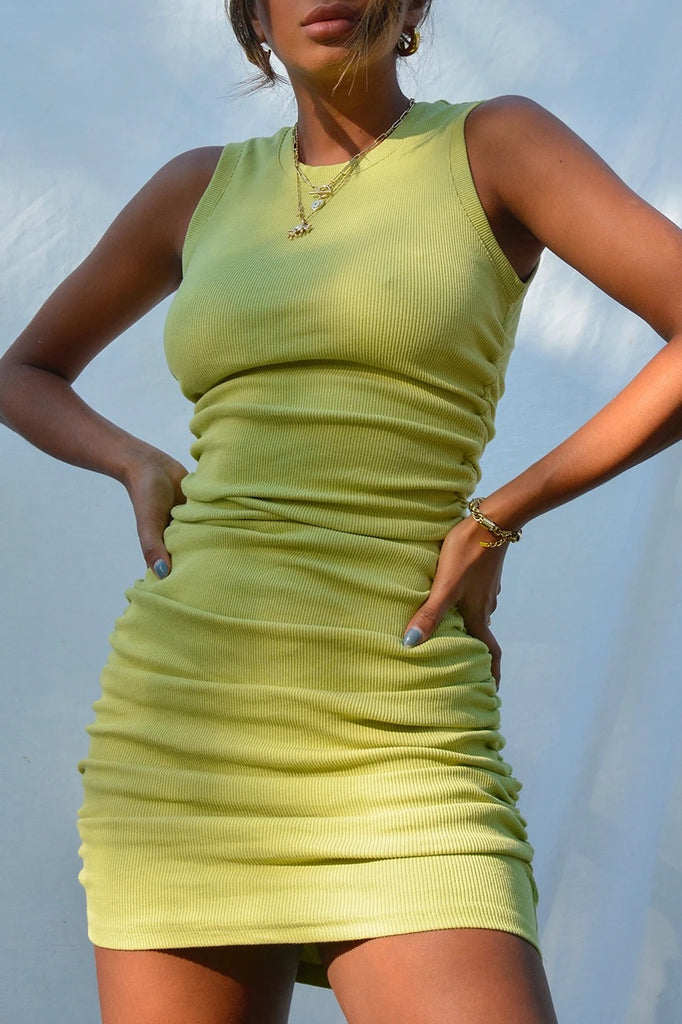 Jaguar lime dress