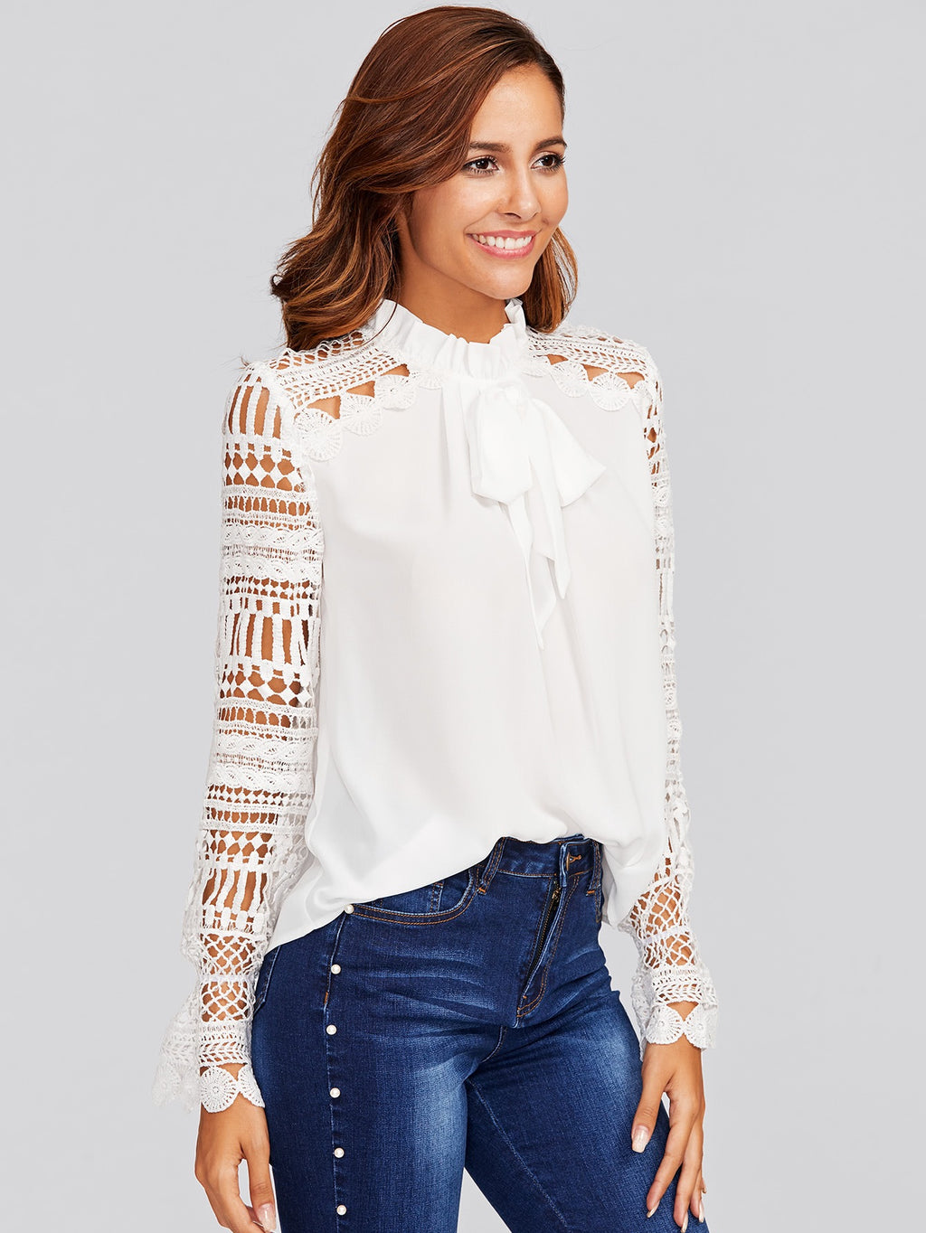 Mary white blouse