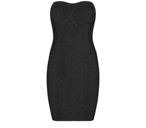 Jesinta black strapless dress