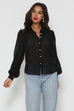 Elise black blouse