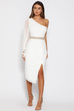 Allira white midi dress