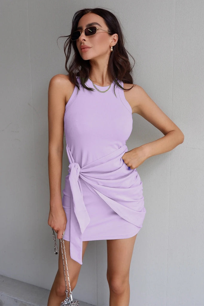 Tau tie lilac dress