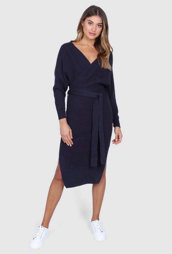 Kimberly Navy Dress