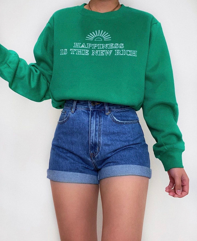 The new rich green jumper