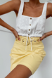 Hazel lemon mini skirt