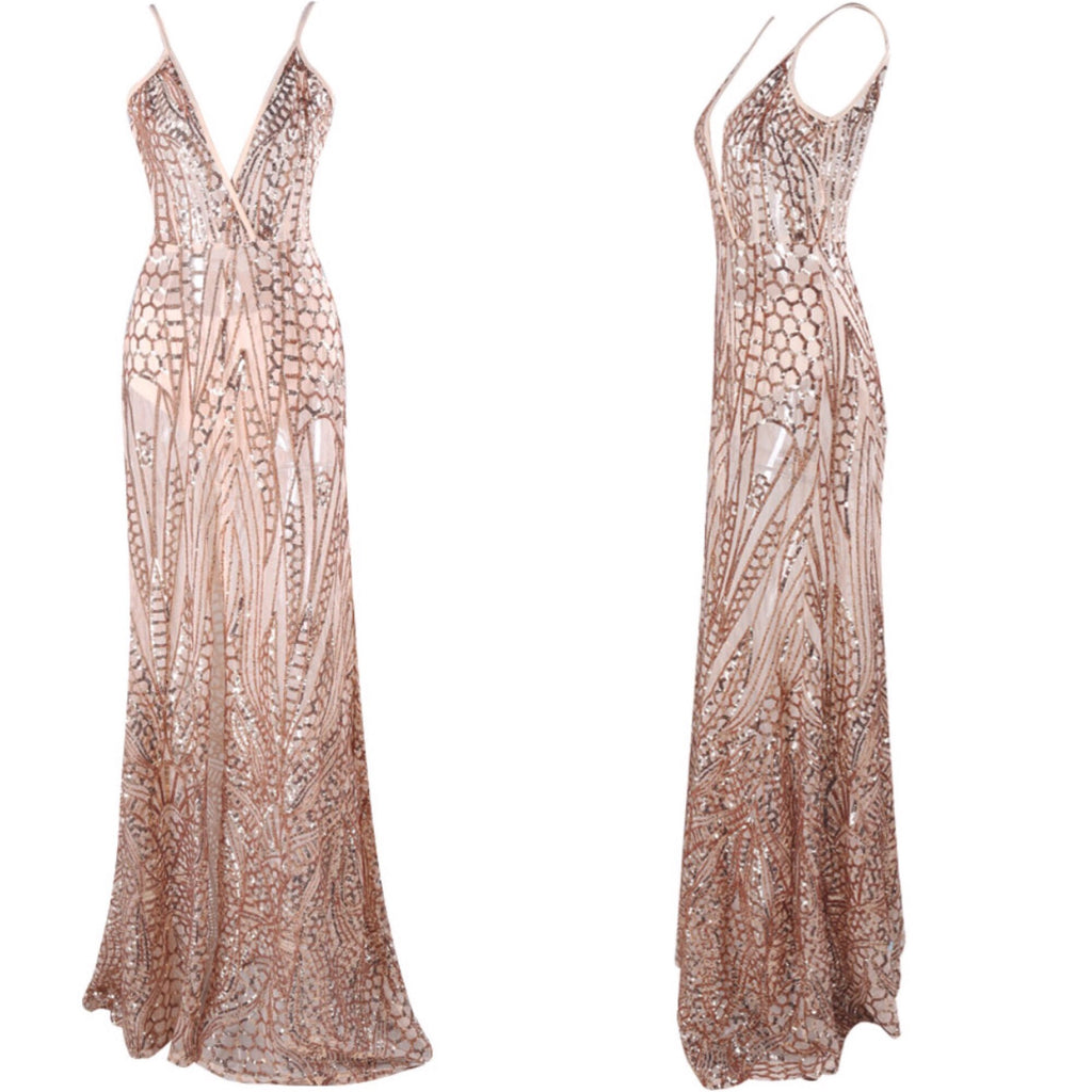 Medley Gold Maxi Dress