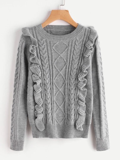 Hit me up Grey knit