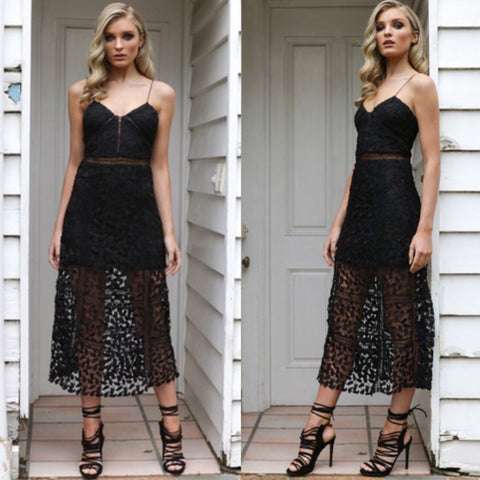 True love black lace dress