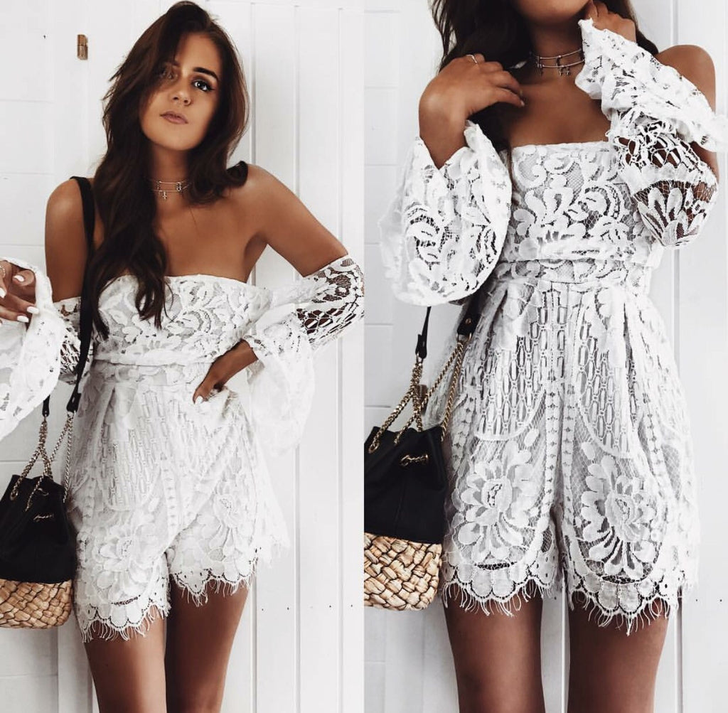 Billy white playsuit