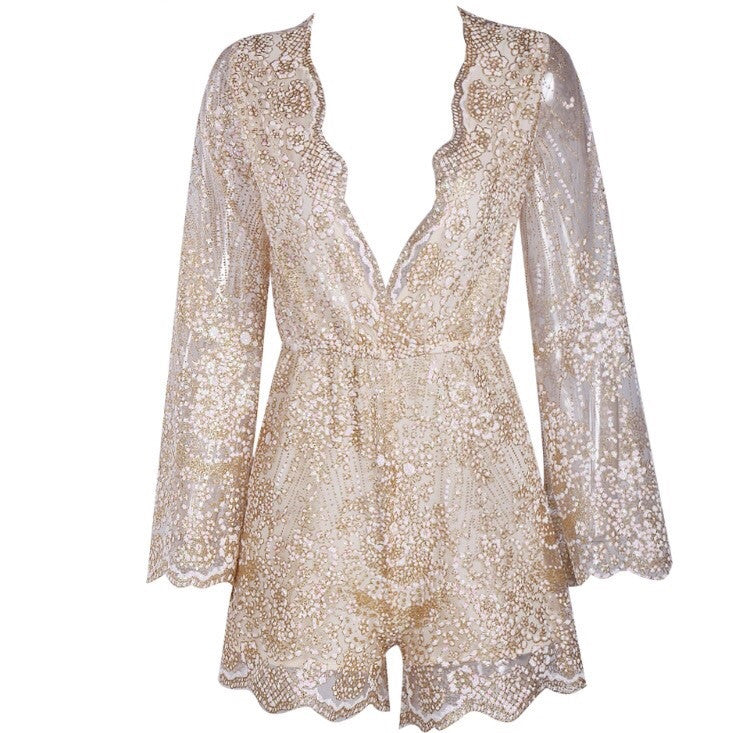 Alesha long sleeve playsuit