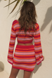 Zorya pink red knit top and skirt (sold as separates)