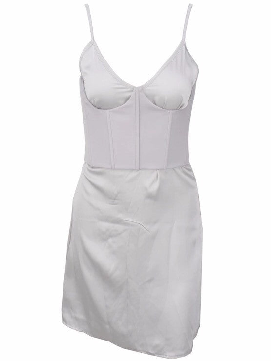 Rekindle Bustier Grey Dress
