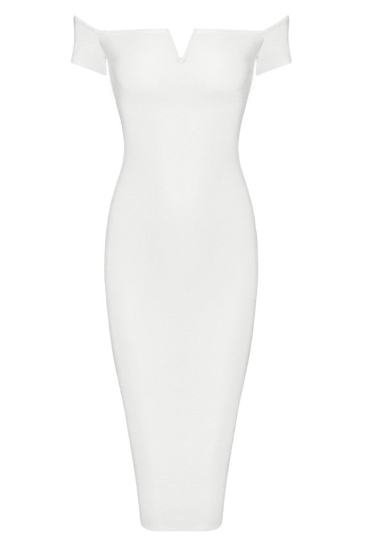 Picasso white off the shoulder dress