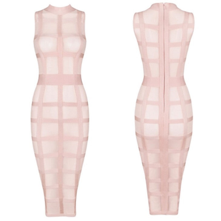 Cadilac pink grid dress