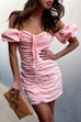 Lita light pink mini dress