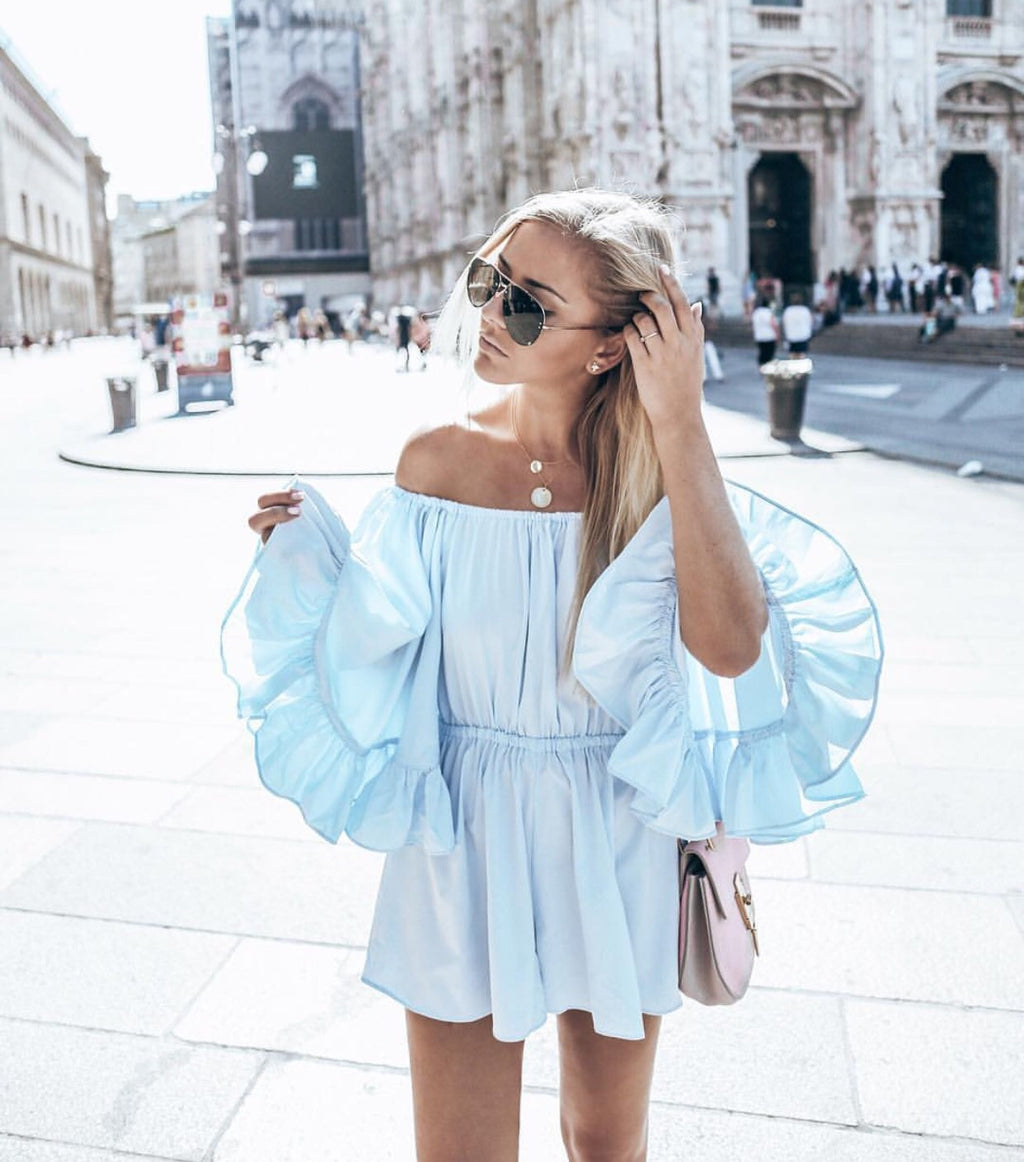 Jani blue playsuit