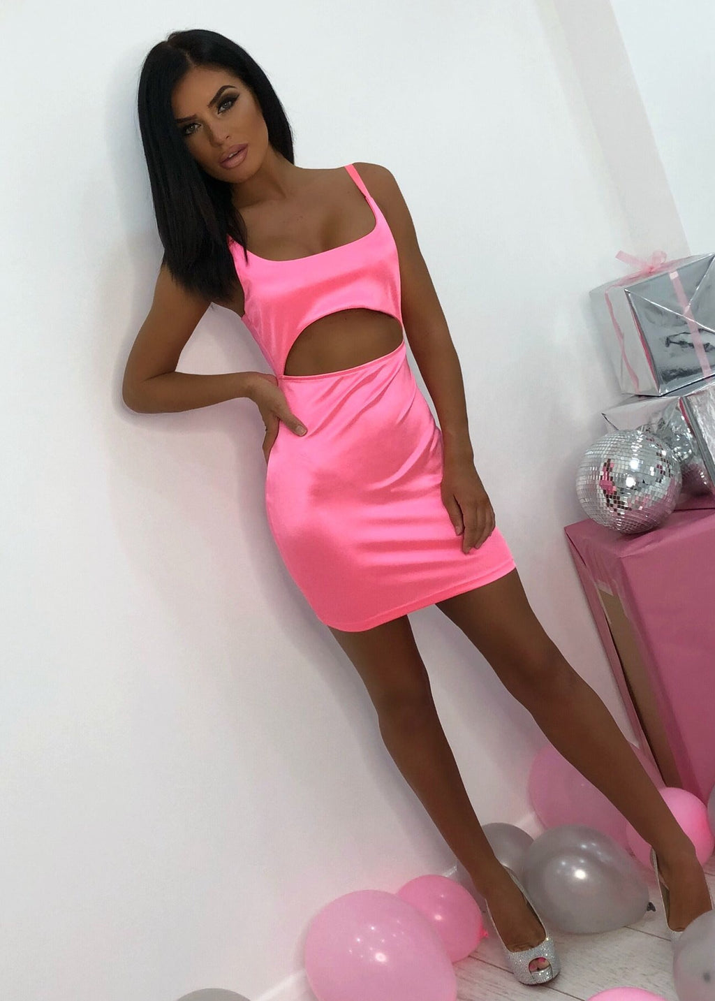 c168aac2566b1b Kimmy neon pink dress Kimmy neon pink dress ...